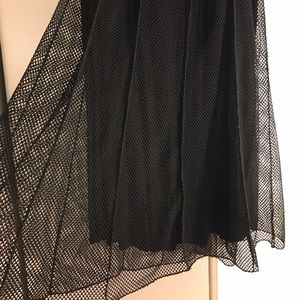 Black Fishnet Overlay Skirt